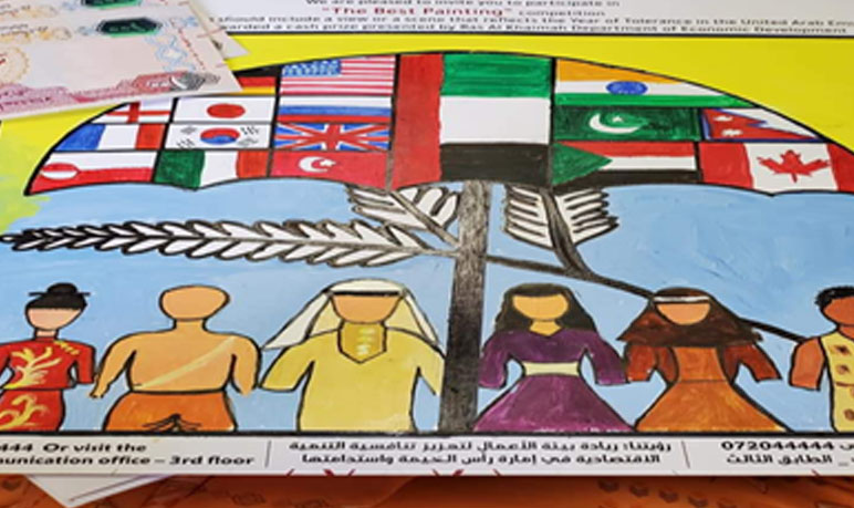 Winner Drawing and Painting Competitions conducted by Department of Economic Zone Government Ras Al Khaimah.