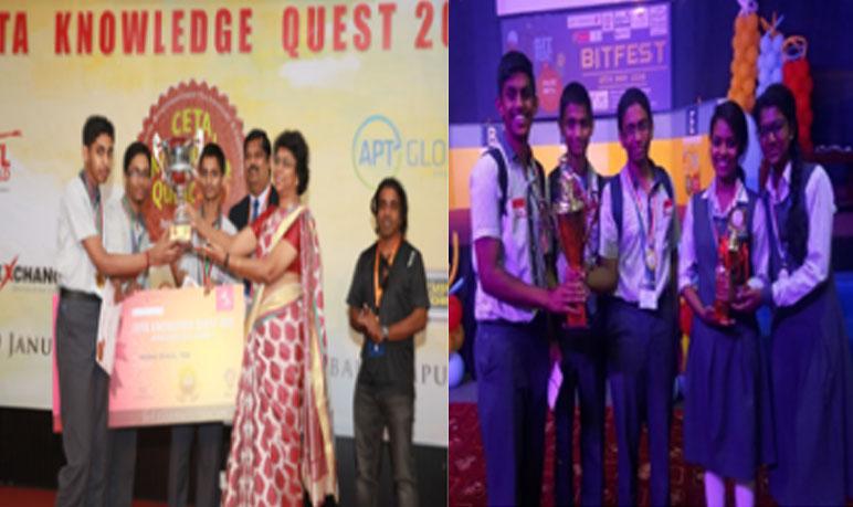 Winners of various Quiz competitions held in various locations in UAE